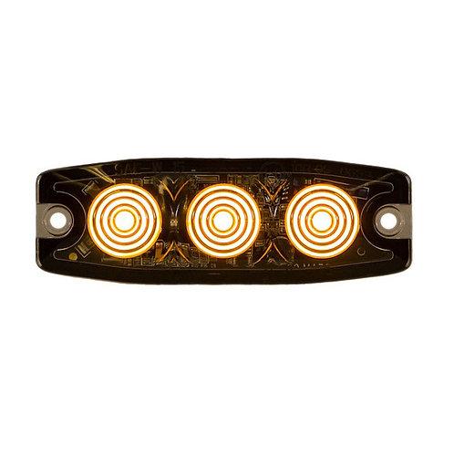 "Ultra Thin 3.5"" Amber LED Strobe Light"