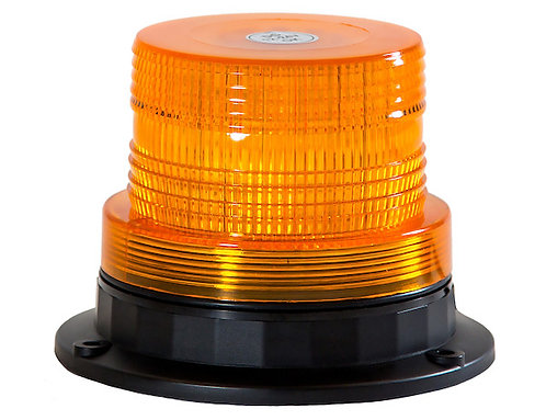 "Beacon Amber LED 5"" x 4"" 2 Flash Patterns."