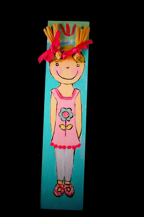 Children's Mezuzah -Pigtails and Dress