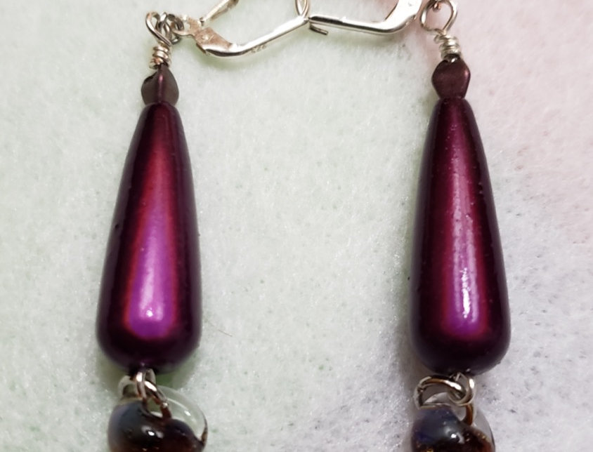 Magic Purple Teardrop Earrings