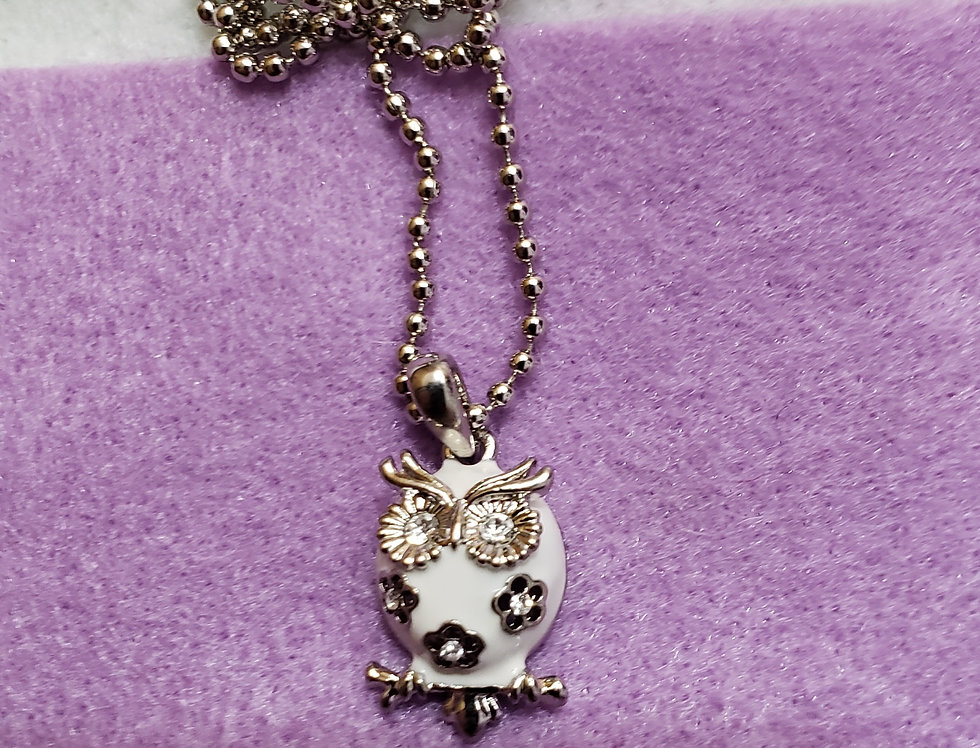 Antique Silver Ball Chain Necklace
