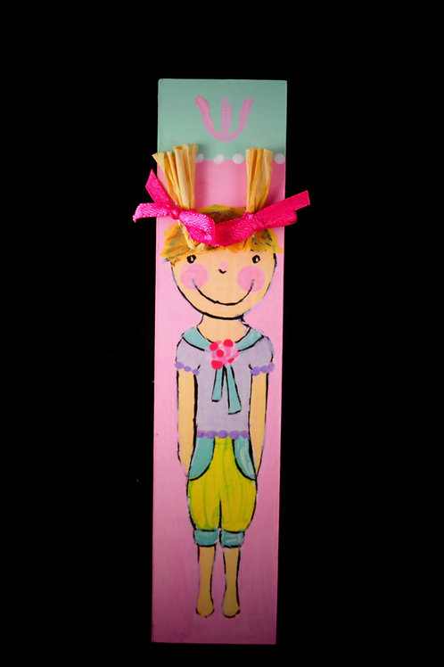 Children's Mezuzah -Girl with Pigtails