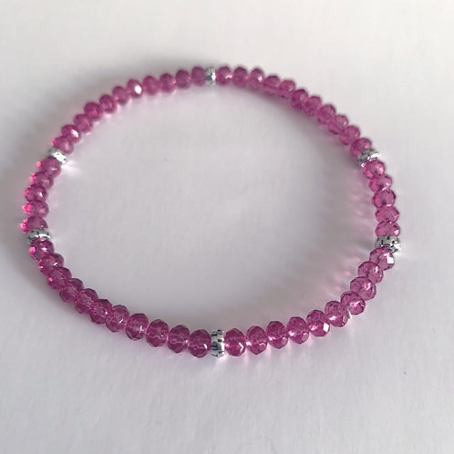 Mini Crystal Raspberry Beaded Bracelet