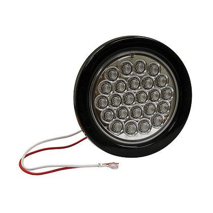"Backup Light 4"" Clear Round w/24 LEDS"