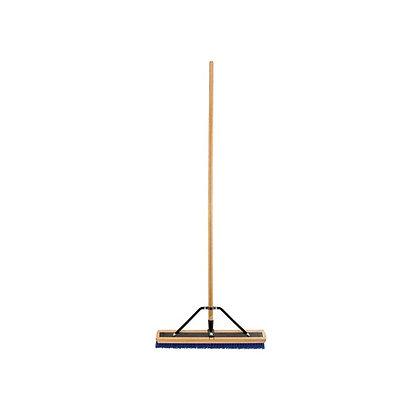 "Push Broom 24"" Blue Poly Bristle"