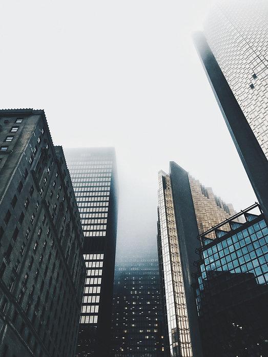 Nebbia sui grattacieli