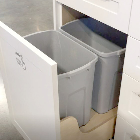 double trash can pull out
