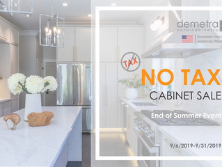 No Tax On Cabinets September!