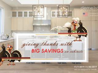 Giving Thanks With Big Savings On Cabinets!