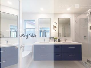Embracing Color of the Year: Bathroom Vanities in Blue