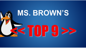 Top 9 Things Ms. Brown is Thankful For This Year