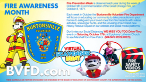 See Marshall from Paw Patrol at Fire Safety event  with Burtonsville Volunteer Fire Dept