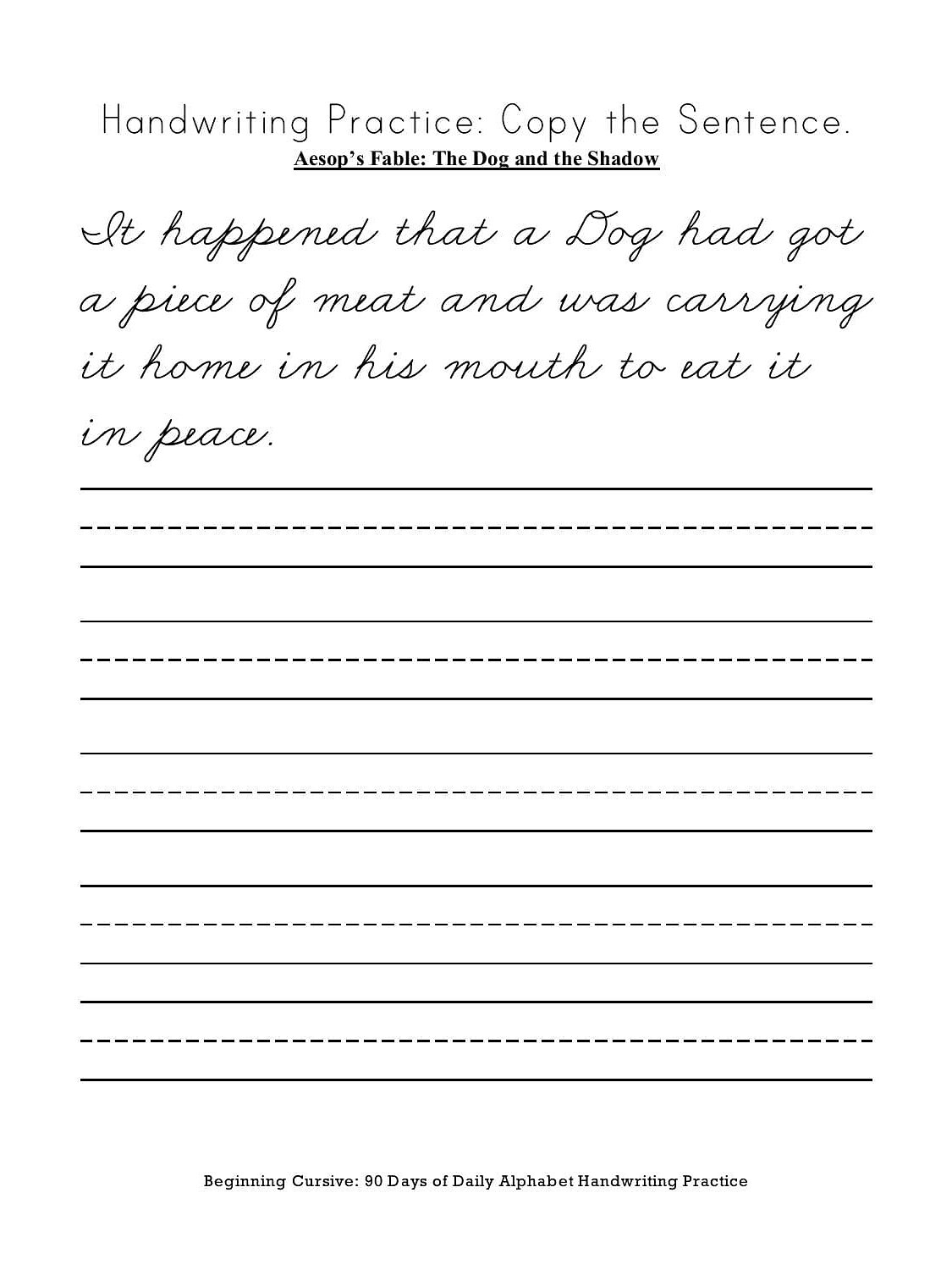 Customized Cursive Writing Worksheets Research Paper Academic