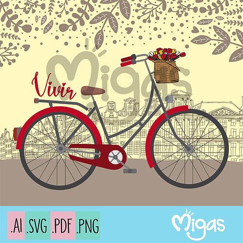 Bicicleta Vintage City