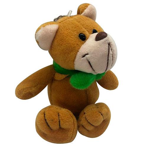 Peluche Oso Tierno Cuello Verde Juguete Para Coche De Bebé