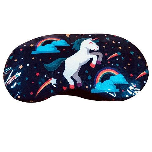 Antifaz Con Gel Relajante Unicornio Azul