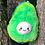 Thumbnail: Aguacate Avocado Kawaii Peluche Verde Con Cara En Relieve