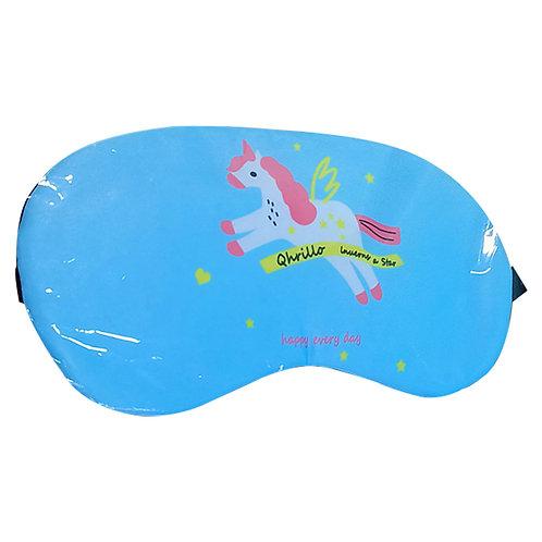 Antifaz Azul Unicornio Con Gel Relajante