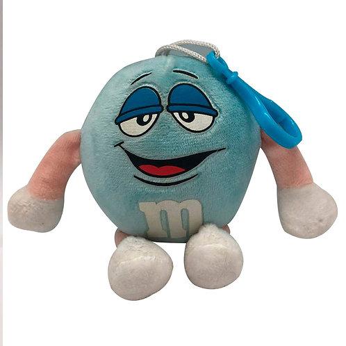 Peluche M Y M Azul Muñeco Juguete Para Coche De Bebé
