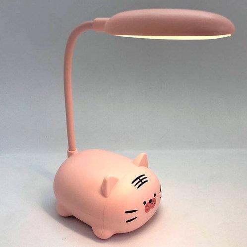 Lámpara Led Recargable Para Nochero O Escritorio+ Cable Usb