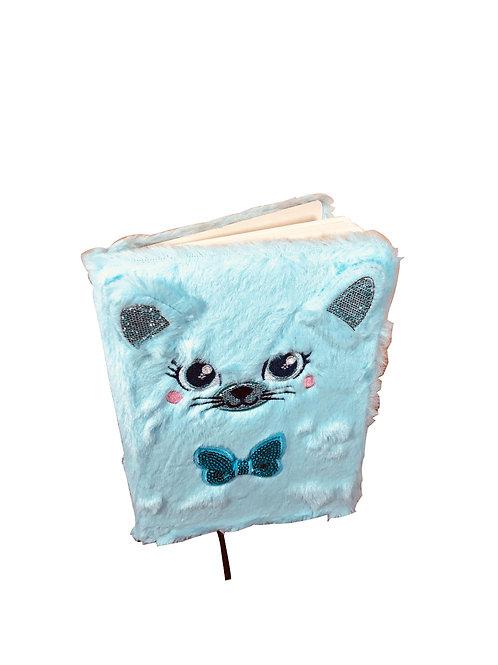 Cuaderno Gata Azul de 80 Hojas