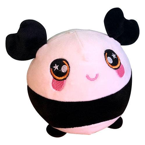Peluche Oso Panda Blanco Squishy Redondo Y Tela Suave