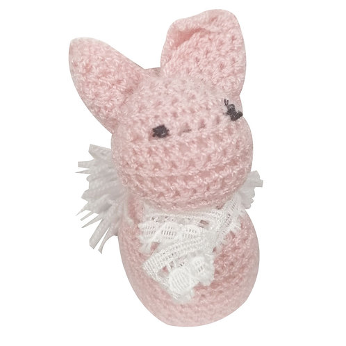 Peluche Conejo Rosado en Crochet