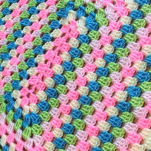 Tapete Hilada En Crochet Tejido A Mano Hilo