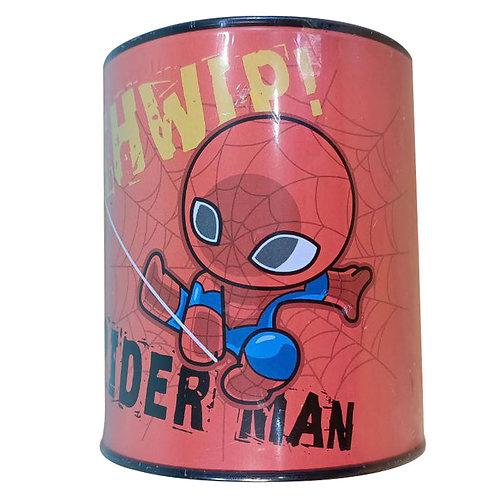 Alcancía Spiderman De Metal Ahorro Billetes Y Monedas