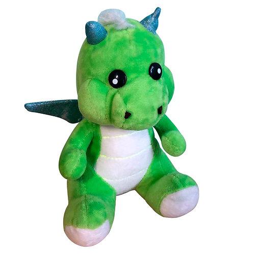 Peluche Dinosaurio Verde Dragon De Felpa Y Algodón