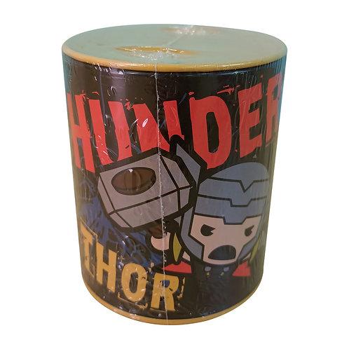 Alcancía Thor De Metal Ahorro Billetes Y Monedas