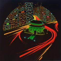Dot-city lights