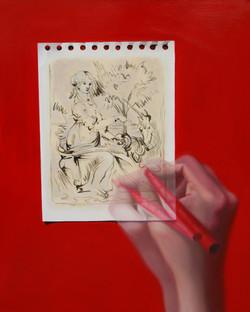 망막에 비친 그림- Ingres drawing