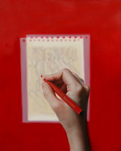 망막에 비친 그림 - Red pencil