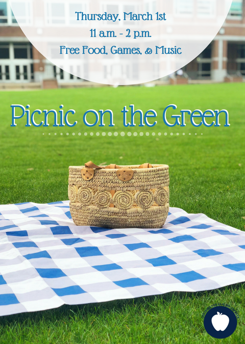 The poster for the Picnic on the Green.