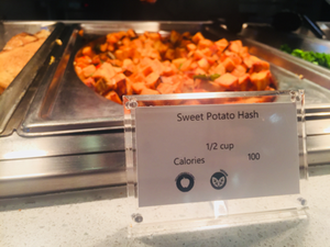 Sweet potato hash in the Cafe.