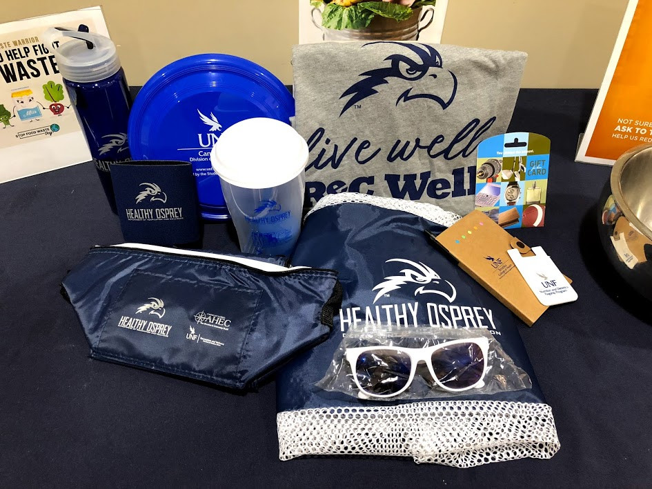 UNF swag like shirts, hats, and sunglasses for healthy ospreys.