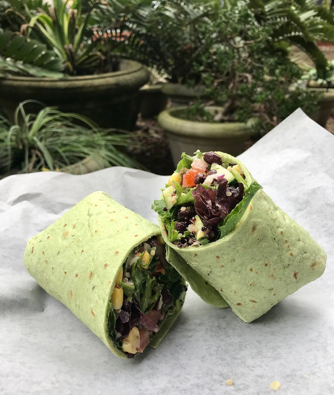 Chopped and Wrapped spinach wrap