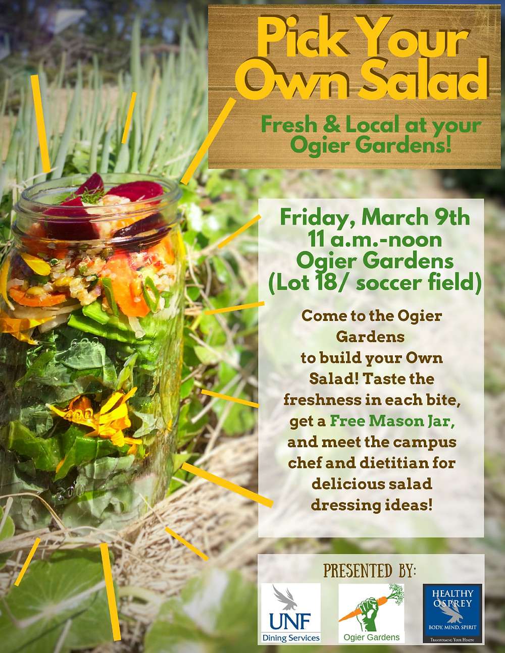 Pick Your Own Salad from the Ogier Gardens poster.