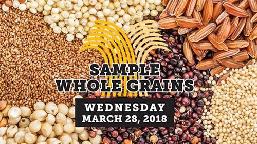 Sample whole grains day poster.