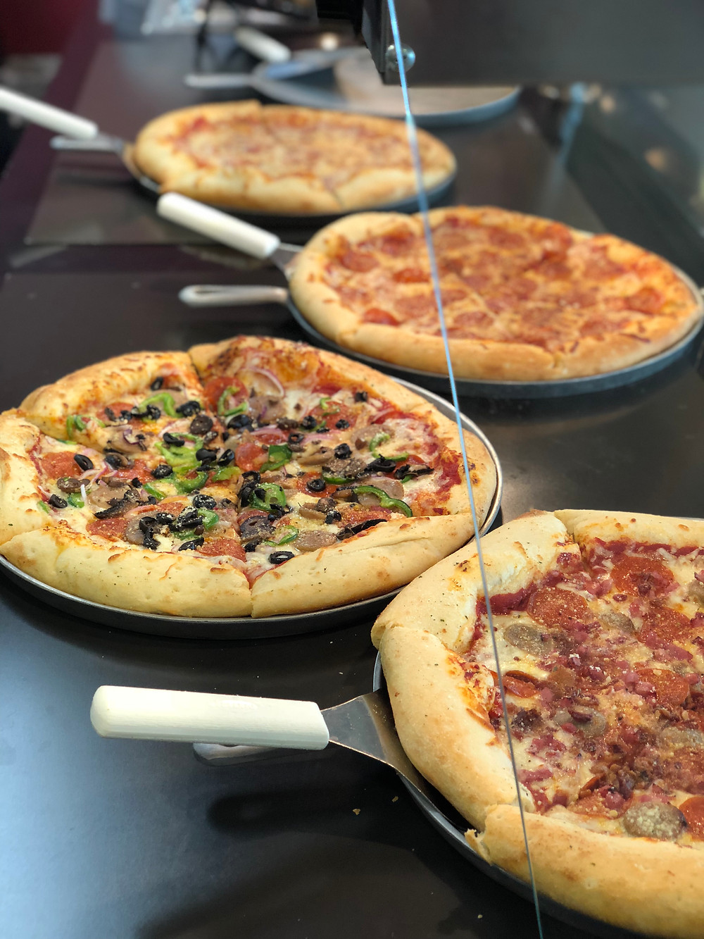 Pizzas from Slice Pizzeria.