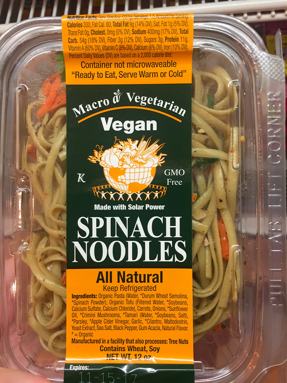 Spinach noodles from Outtakes