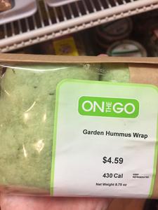 A garden hummus wrap for on the go.
