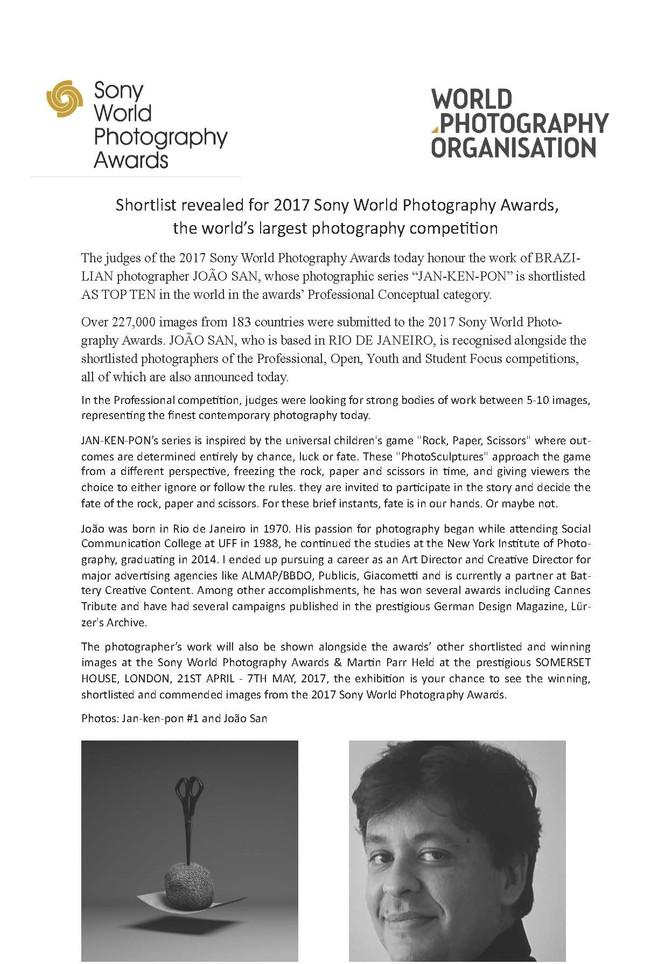 Jan-Ken-Pon is shortlist at 2017 Sony World Photography Awards #swap
