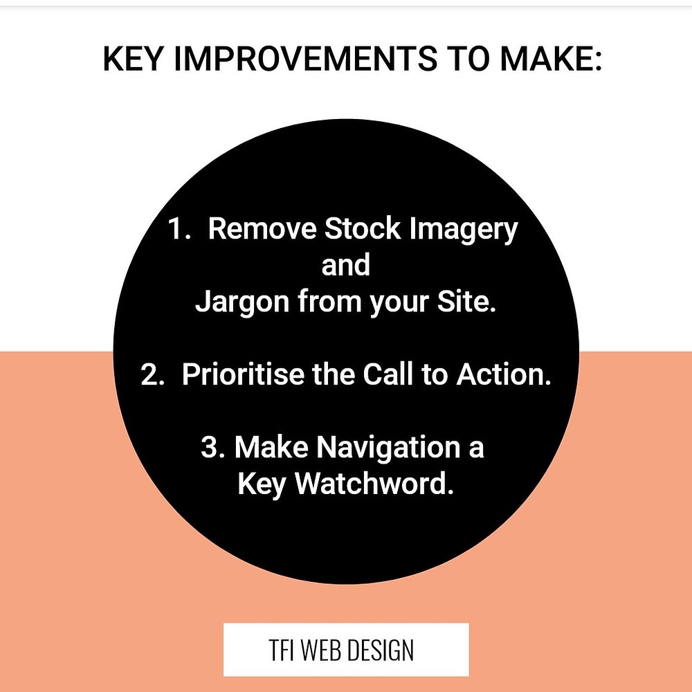 Key improvements that you can look to make on your website. [TFI WEB DESIGN]