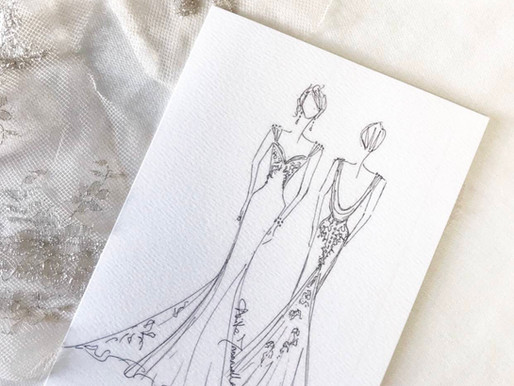 I WENT FOR A BESPOKE WEDDING DRESS DESIGN CONSULTATION, By Stephanie Jayne