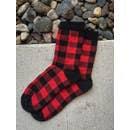Red/Black Buffalo Plaid Socks