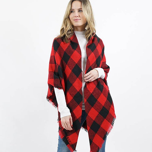 Buffalo Plaid Scarf/ Shaw