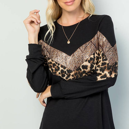 Black/Sequin Blouse
