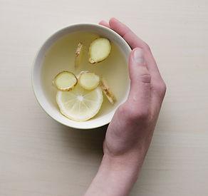 Gingembre, citron et miel thé